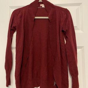 Merona size small cardigan - burgundy